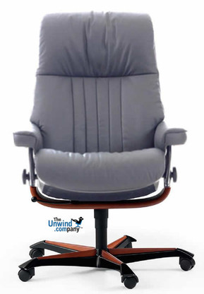 Stressless Crown Office Chair by Ekornes. You'll feel like royalty at work.