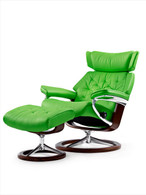 New 2016 Stressless Skyline Summer Green Paloma Leather.
