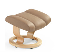 Ekornes Diplomat Ottoman Only- shown in Latte Batick Leather.