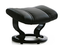 Black Paloma leather Eagle Recliner Footstool only.