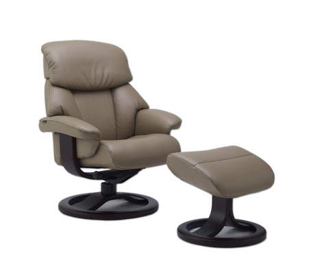 Fjords Alfa 520 R Base Recliner and Ottoman- Ships Free