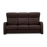 Fjords Eidsdal Brown Leather 3 Seat Sofa- Ships Free