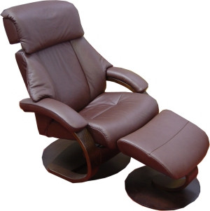 Fjords 520 Alfa Recliner with Footstool included- C Style Base- Ships Free