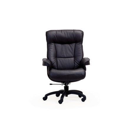 Bergen Office Chair By Fjords In Black Leather