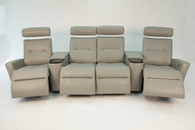 Fjords Madrid Recliner Sofa Cinema Seat 121 Configuration- $7,795.0 as shown.