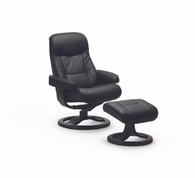 Black Nordic Line leather - simply beautiful on all Fjords Recliners.