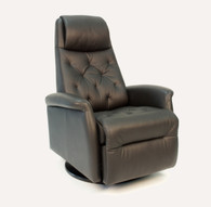 New 2015 Fjords City Swing Relaxer shown in Black Soft Line Leather.