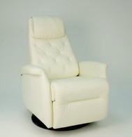 New 2015 Fjords City Manual Swing Relaxer- Stark White SL228 Soft Line Leather