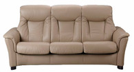Fjords Scandic FSH 3 Seat Sofa shown in Nougat Soft Line Leather.