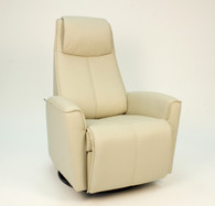Latte Astro Line Leather shown on this Fjords Urban Glider Rocker Relaxer.