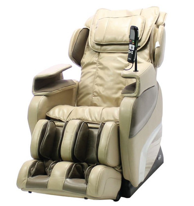 TI-7700R Massage Recliner Chair shown in Beige Upholstery choice.