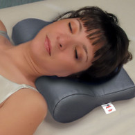 Vinyl Ab Contour Cervical Support Pillow in use.