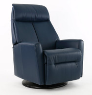 New Fjords Sydney Swing Relaxer- Blue Soft Line Leather shown on this model.