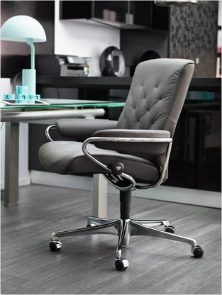 Stressless Metro Low Back Office Chair by Ekornes of Norway.