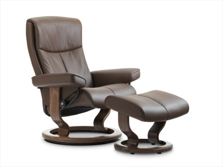 Stressless Peace Recliner- Coming soon. Shown here in the new Chestnut Paloma Leather.