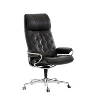Stressless Metro Office Chair shown in Black Leather.