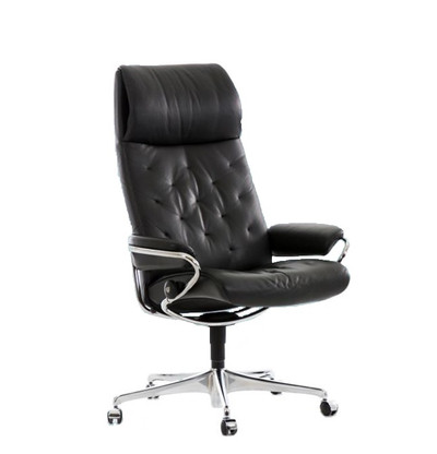 Stressless Metro Office Chair shown in Black Leather.  sc 1 st  Unwind.com & Stressless Metro Office Chair- Low Back Option