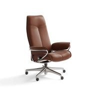 Copper Paloma Leather High Back City Office Chair- Ships Stress Free at Unwind