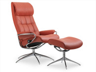 Paloma Henna Leather shown on this New London High Back Stressless Recliner