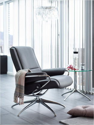 New 2016 Low Back Stressless Paris Chair by Ekornes of Norway.