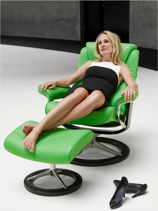 Relax and Unwind with the lowest prices allowed at Unwind on the New Stressless Bliss Recliner.