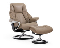 New Stressless Live Signature Recliner shown in Mole Batick Leather- Coming Soon at Unwind!