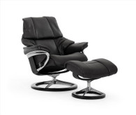 Stressless Signature Series Reno Recliner with Ottoman.