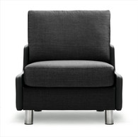 Charcoal Karma Fabric shown on this E600 1 Seat Sofa Chair