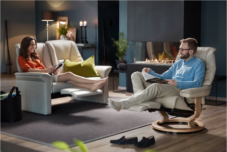 Stressless Lux Love Seat Sofa  2 Seat Leg Comfort Technology: Get The Best  Prices