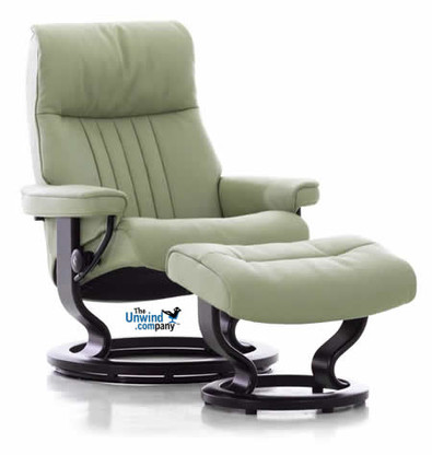 Ekornes Stressless Crown Recliner with Ottoman. Another crowning achievement by Ekornes of Norway.