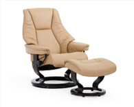 Stressless Live shown with Classic Base in Sand Paloma Leather- Coming Soon to Unwind in 2016.