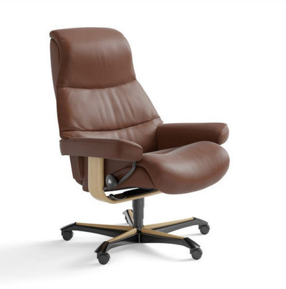 Stressless View Office- an Ekornes Favorite Chair: Shown in Copper Paloma Leather