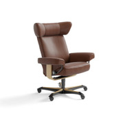 Stressless Viva Office Chair- shown here in Copper Paloma Leather at Unwind.