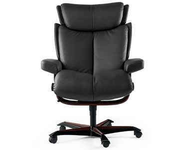 Ekornes Stressless Magic Office Chair- A variety of leather options are available.