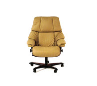Taupe Paloma Leather- Ekornes Stressless Reno Office Chair with Authorized Discounts