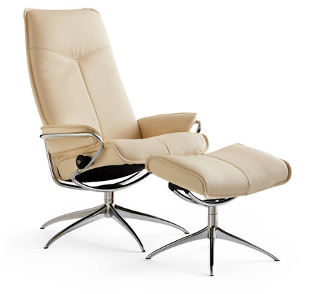 City Recliner and Ottoman - Ships fast and stress-free at Unwind