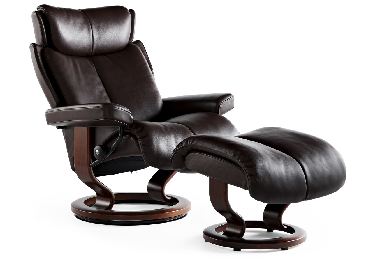stressless magic recliner small with footstool authorized price reduction. Black Bedroom Furniture Sets. Home Design Ideas