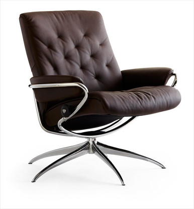 Metro low-backed Recliners - stocked in Mocca Paloma Leather