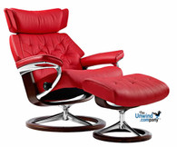 Stressless Skyline with Ottoman. Color shown for display only.