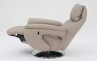 Himolla Basie Recliner with Ottoman Extended- 31 Soft Fels Leather