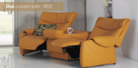 Himolla Duo Curved Sofa with 3 Seats-Let the family relaxation begin.