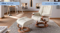 Elbe Recliner and Footstool- A Relaxation Duo!