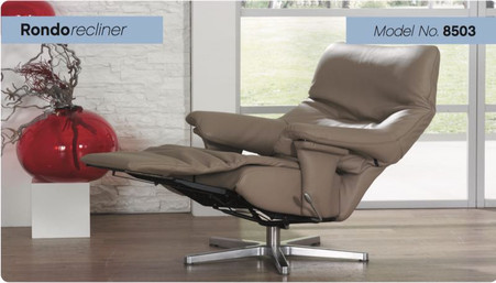 Rondo Integrated Recliner with Footstool by Himolla