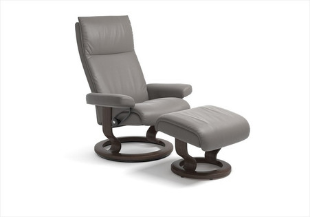 stressless aura large recliner with ottoman by ekornes stress free