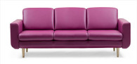 Introducing the Stressless Joy 3-Seat Trio Sofa in Beet Red Paloma!
