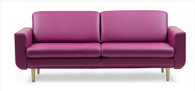 The Stressless Joy Sofa 3-Seat Duo in Beet Red Paloma is a beautiful addition to any home!