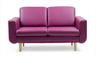 The Joy 2-Seat Sofa in Beet Red Paloma is beautiful and comfortable!