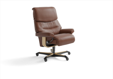 The Stressless Capri Office Chair in Copper Paloma is perfectly comfortable for any office.