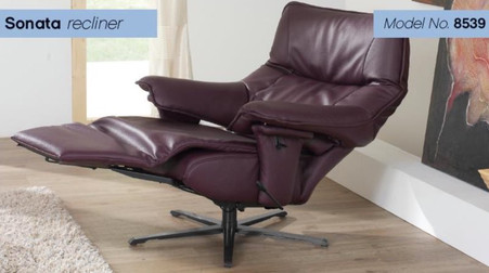Himolla Sonata Recliner with Integrated Ottoman- Experience comfort engineered for a lifetime.