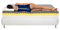 The Magnistretch mattress by Magniflex of Italy helps to reduce neck and back pain.